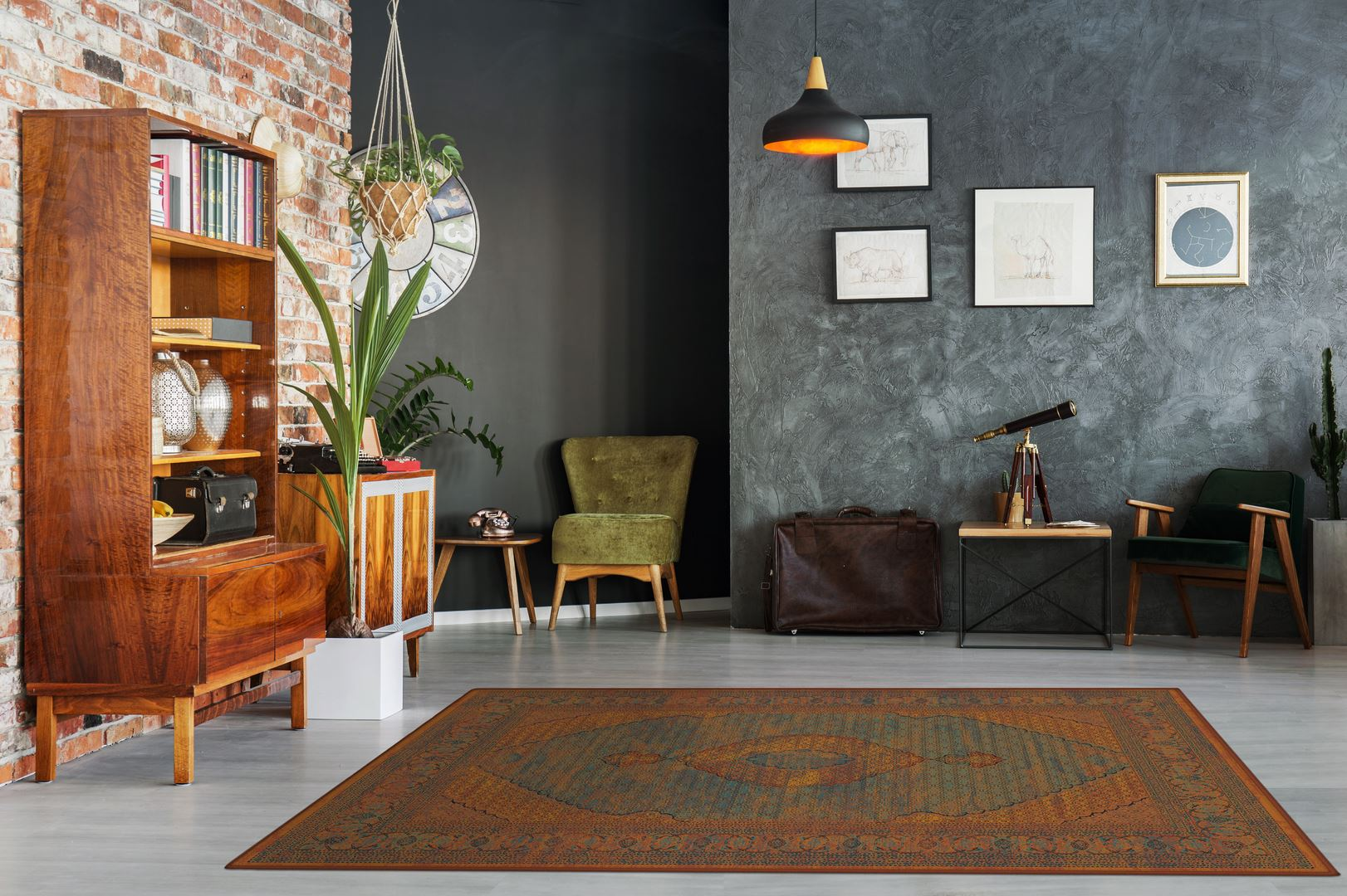 Modernly designed apartment interior with stylish furniture